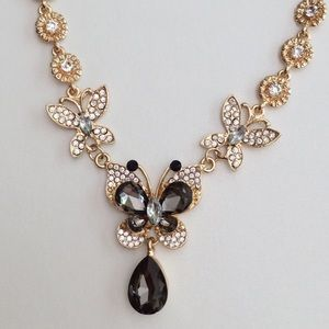 Betsey Johnson Dreamy Butterfly Chain Necklace